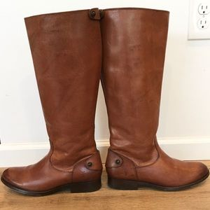 Frye Melissa Button Back Zip Ext. Calf Boots